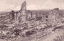 Asiago distrutta dopo i combattimenti della Strafexpedition - 1915