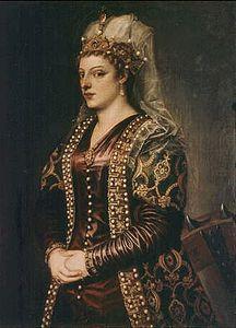 Caterina Cornaro, ritratto di Tiziano e bottega