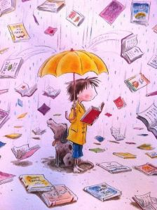 Vignetta pioggia di libri